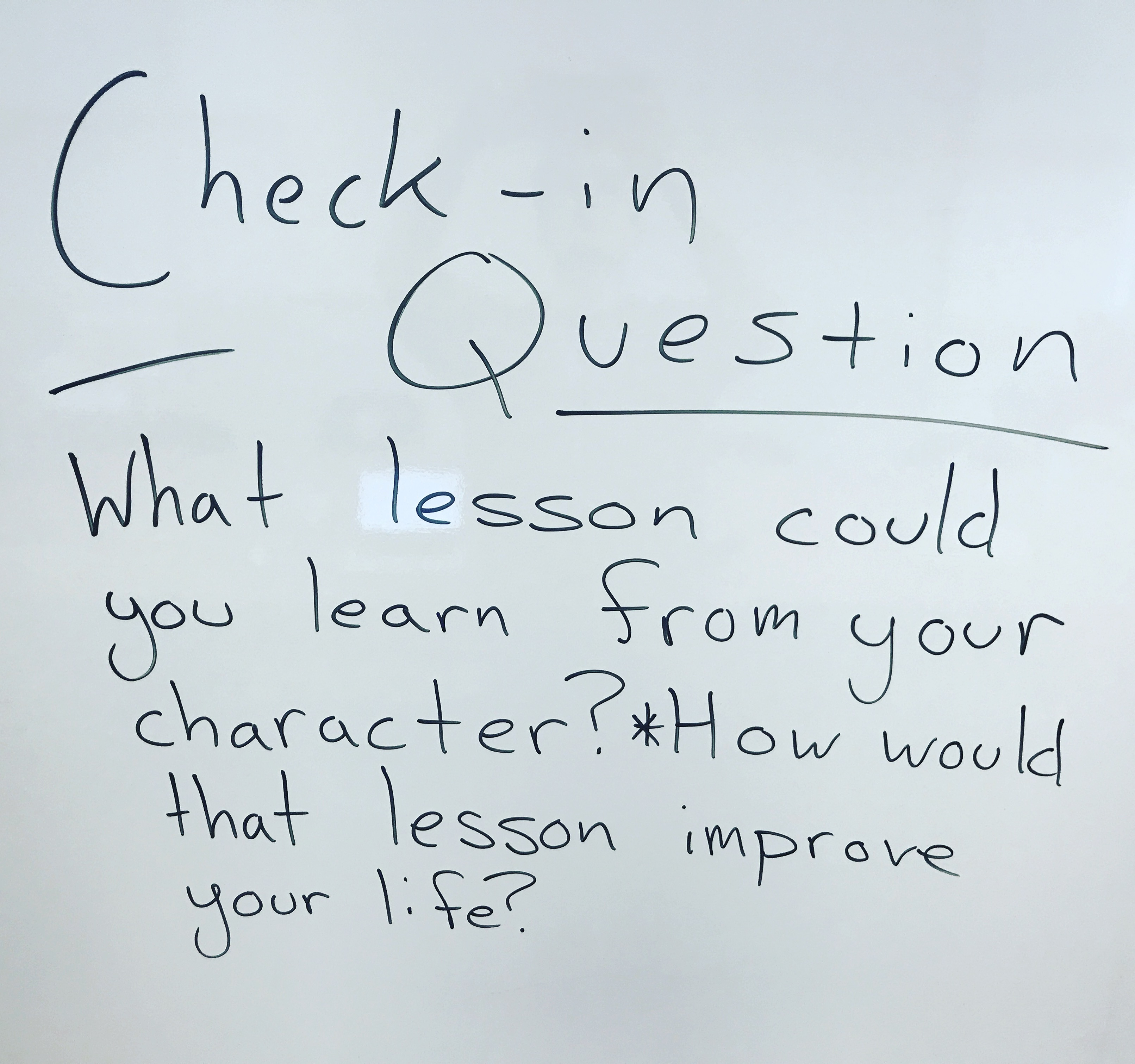 What lesson could you learn from your character? How would this lesson improve your life?