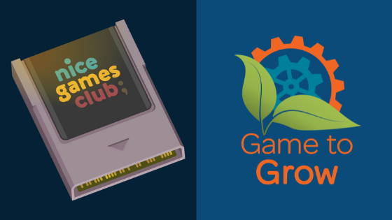 Nice Games Club logo and Game to Grow Logo